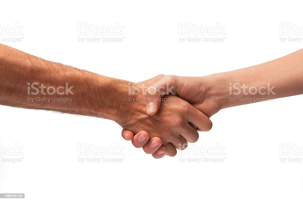 Handshake isolated stock photo
