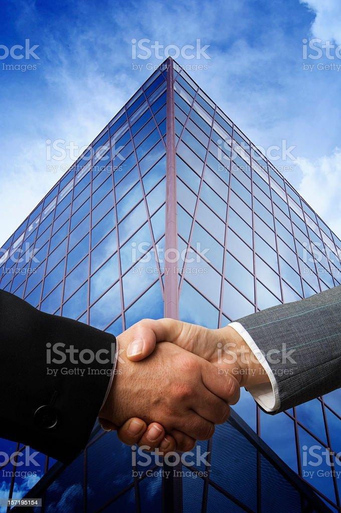 Handshake of business royalty-free stock photo