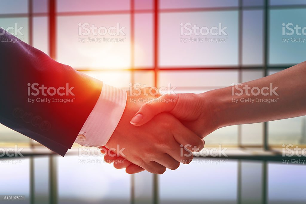 handshake of businessmen. stock photo
