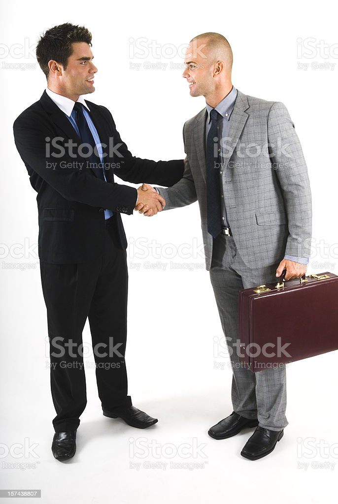 Handshake of two business partners, isolated on white - II royalty-free stock photo