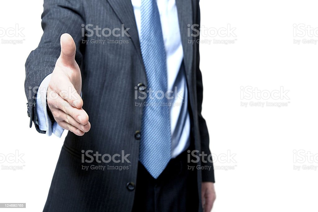 Handshake Offering stock photo