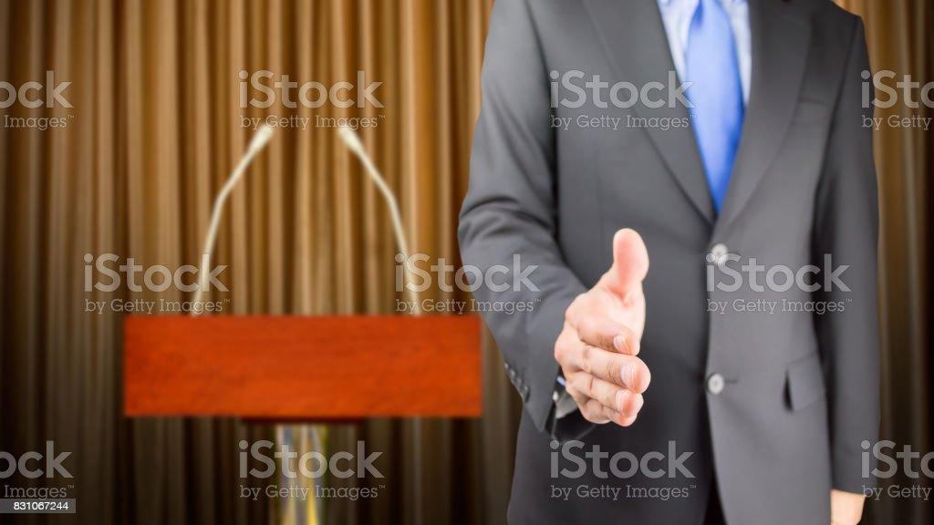 Handshake on it! stock photo