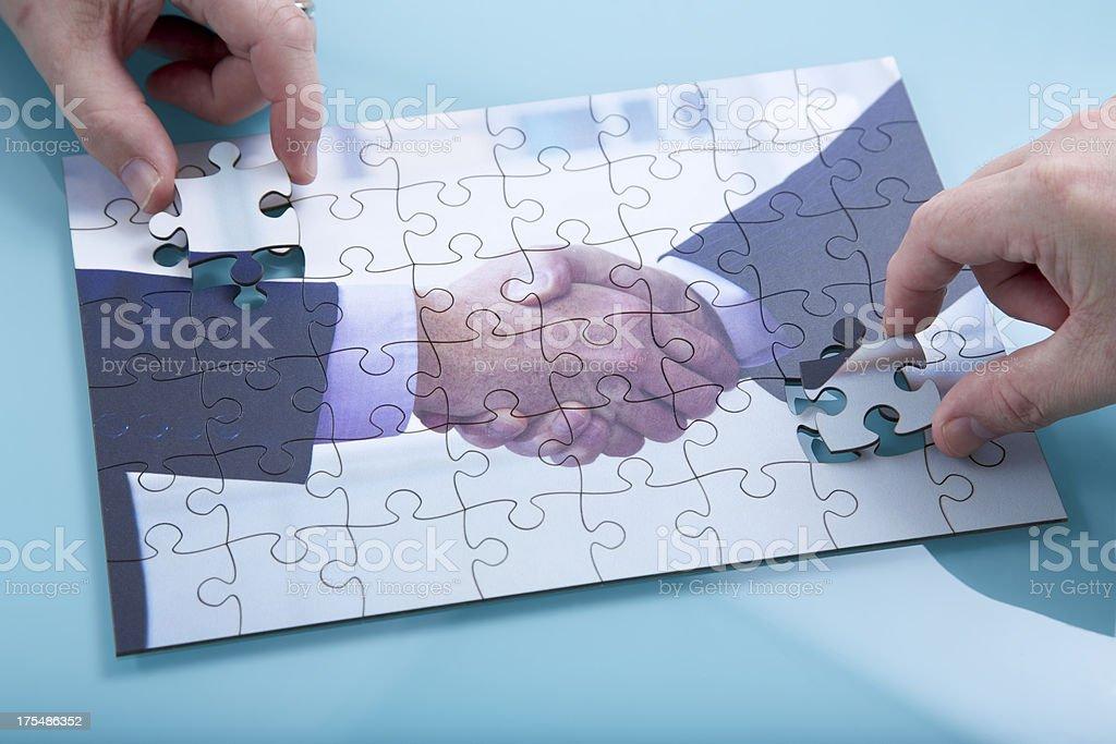 Handshake... stock photo
