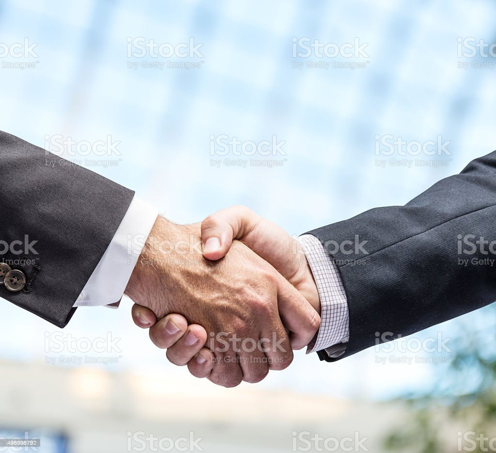 Handshake. stock photo