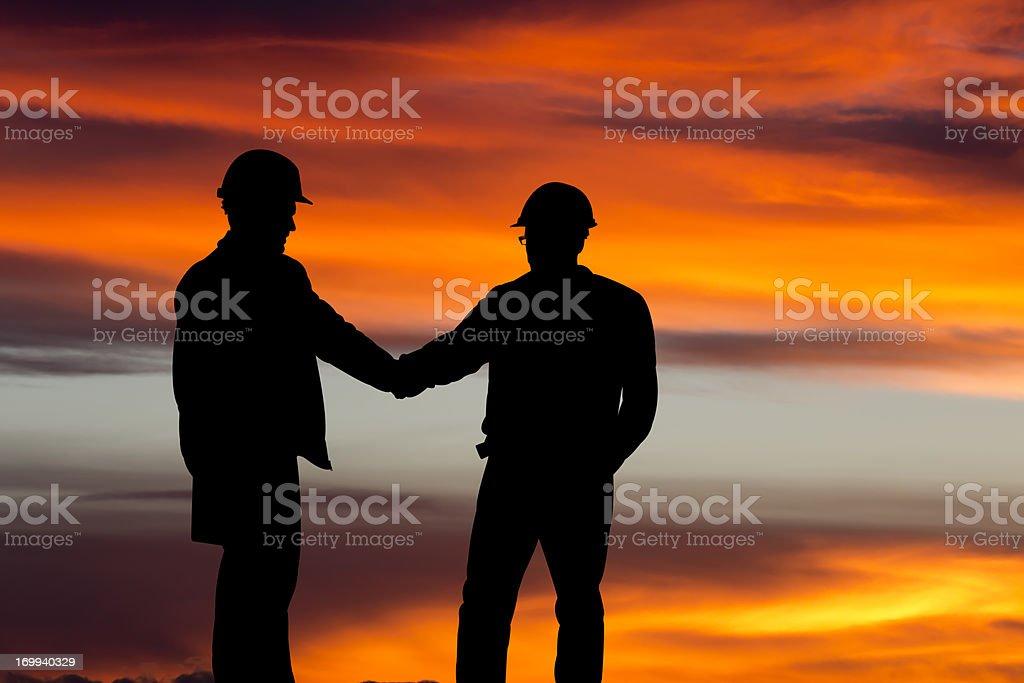 Handshake Silhouette royalty-free stock photo
