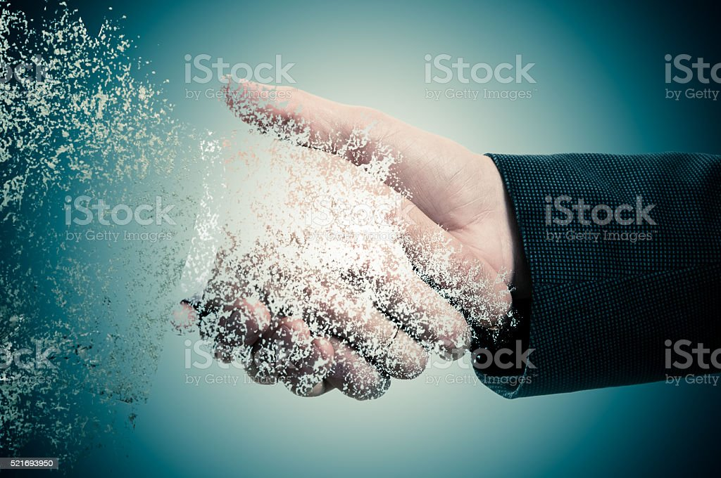 Handshake. The concept is not a reliable partner in business stock photo