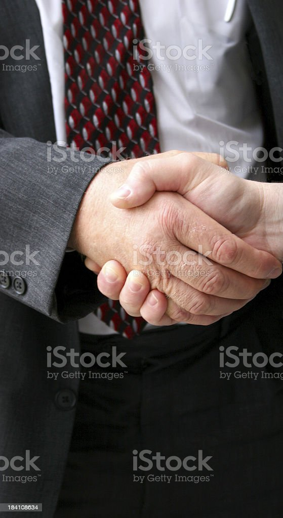 Handshake Vertical royalty-free stock photo