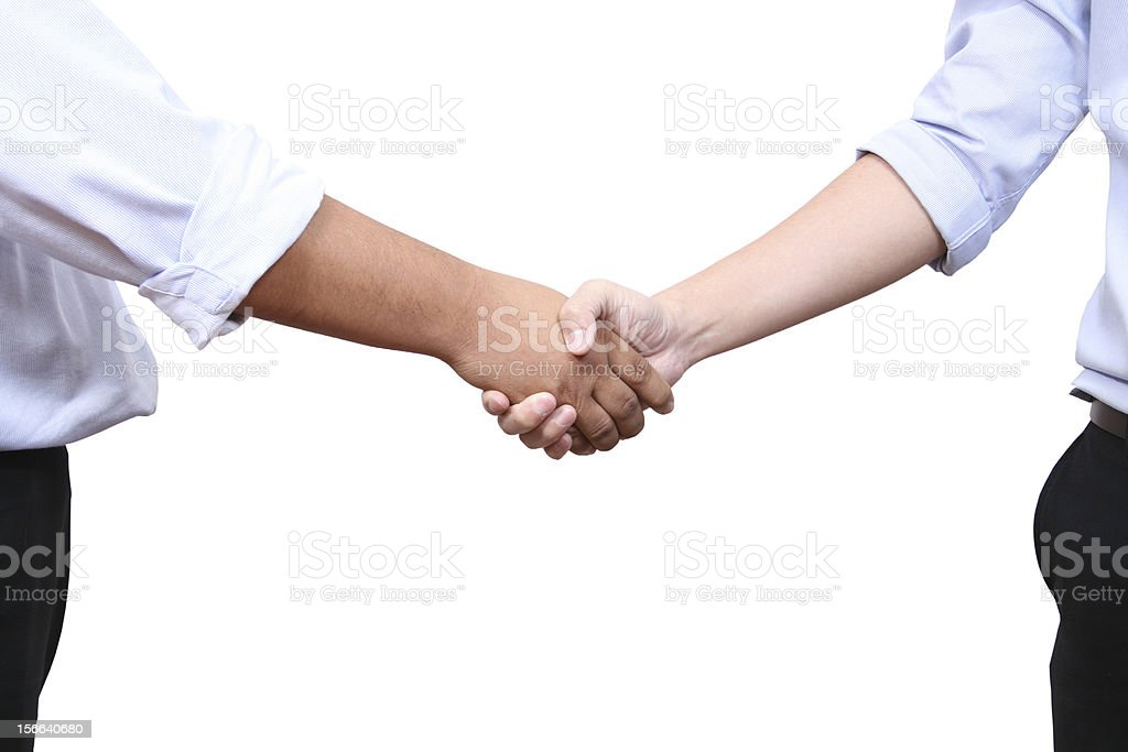 Handshaking royalty-free stock photo