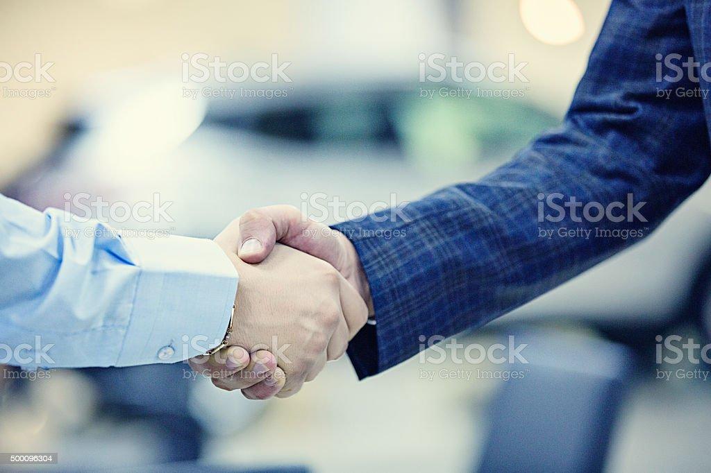 Handshaking stock photo