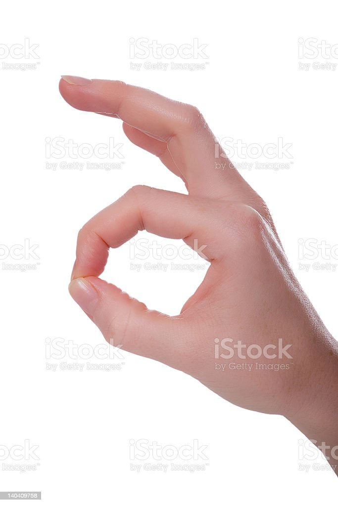 Handsign - it is ok! royalty-free stock photo