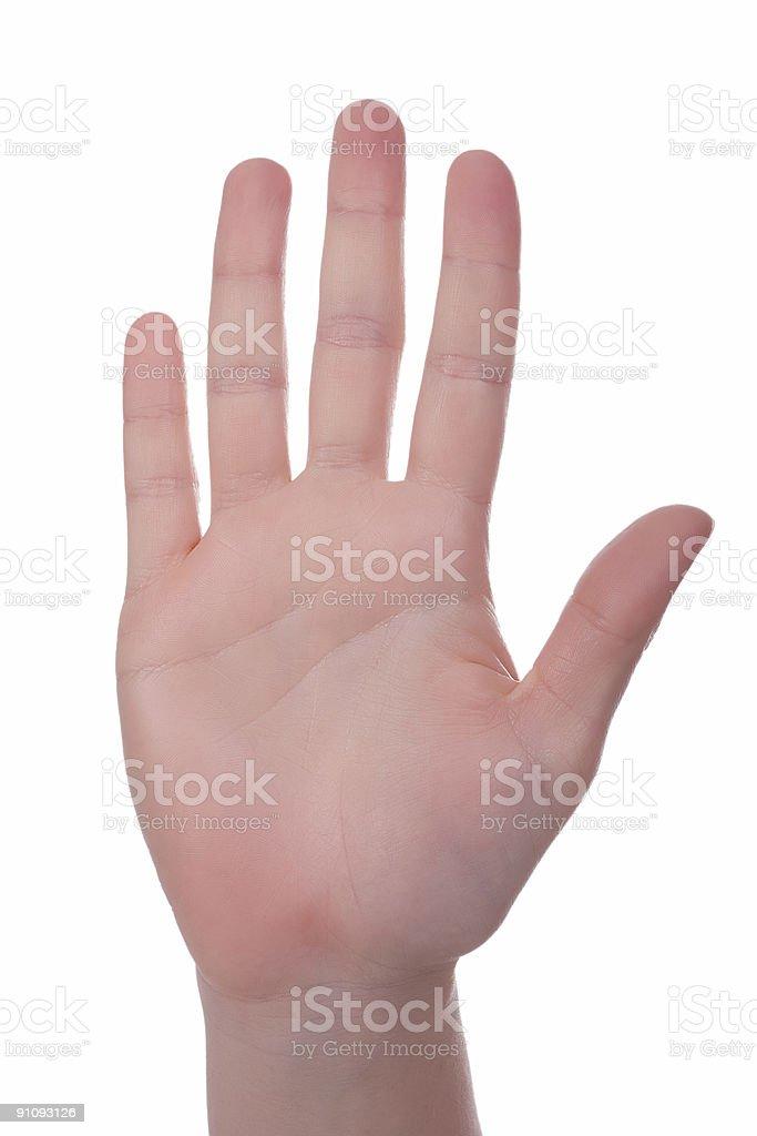 Handsign - Just the whole hand. royalty-free stock photo