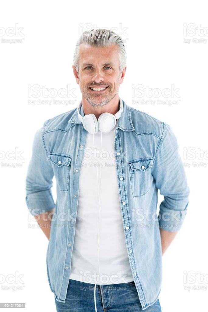 Handsome adult man stock photo