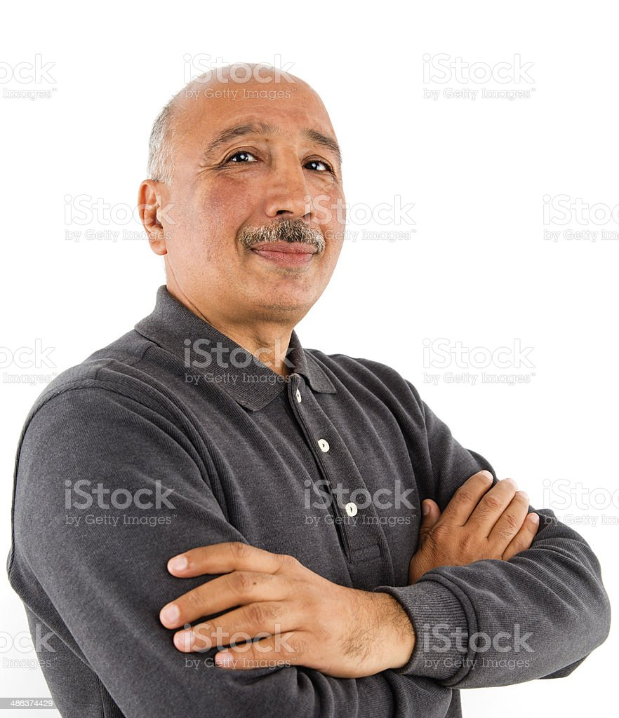 Handsome Adult Turkish Ethnicity Man Portrait stock photo