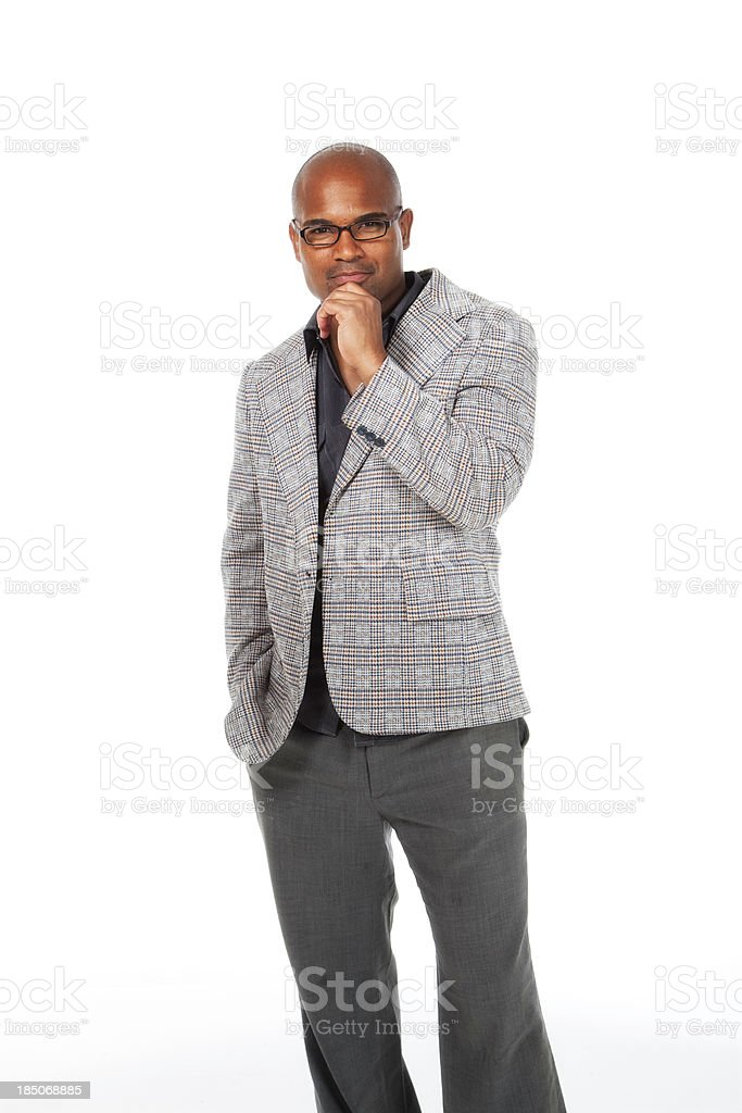 Handsome African American Man with Copy Space stock photo