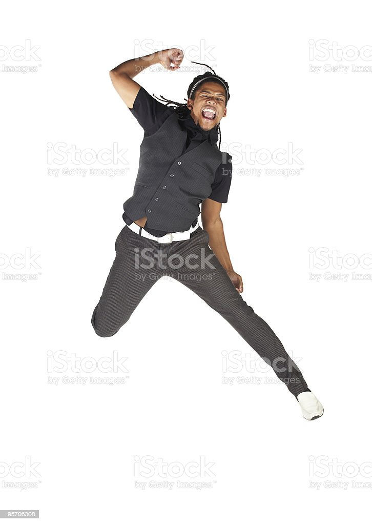 Handsome African businessman royalty-free stock photo