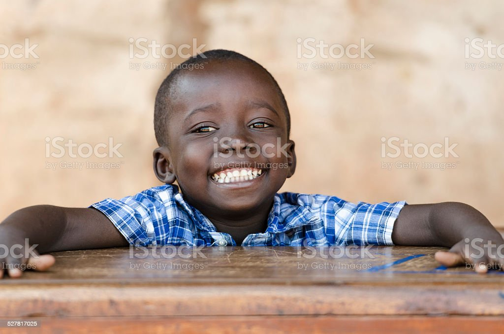 Handsome African Ethnicity Boy At School - Education Symbol stock photo