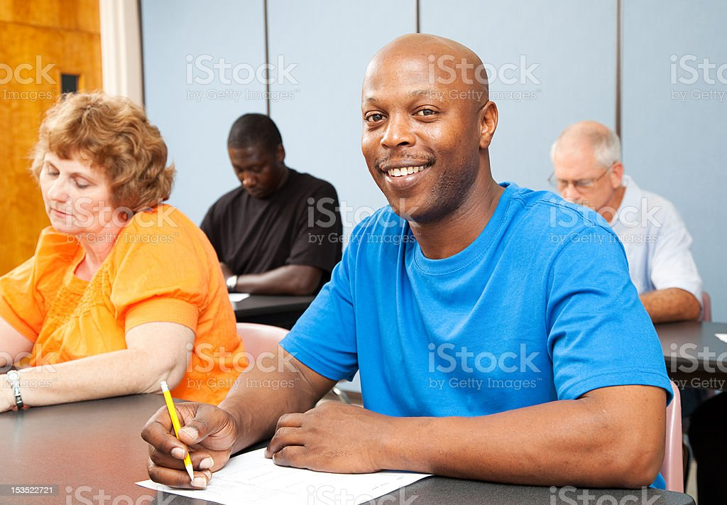 Handsome African-American College Student stock photo