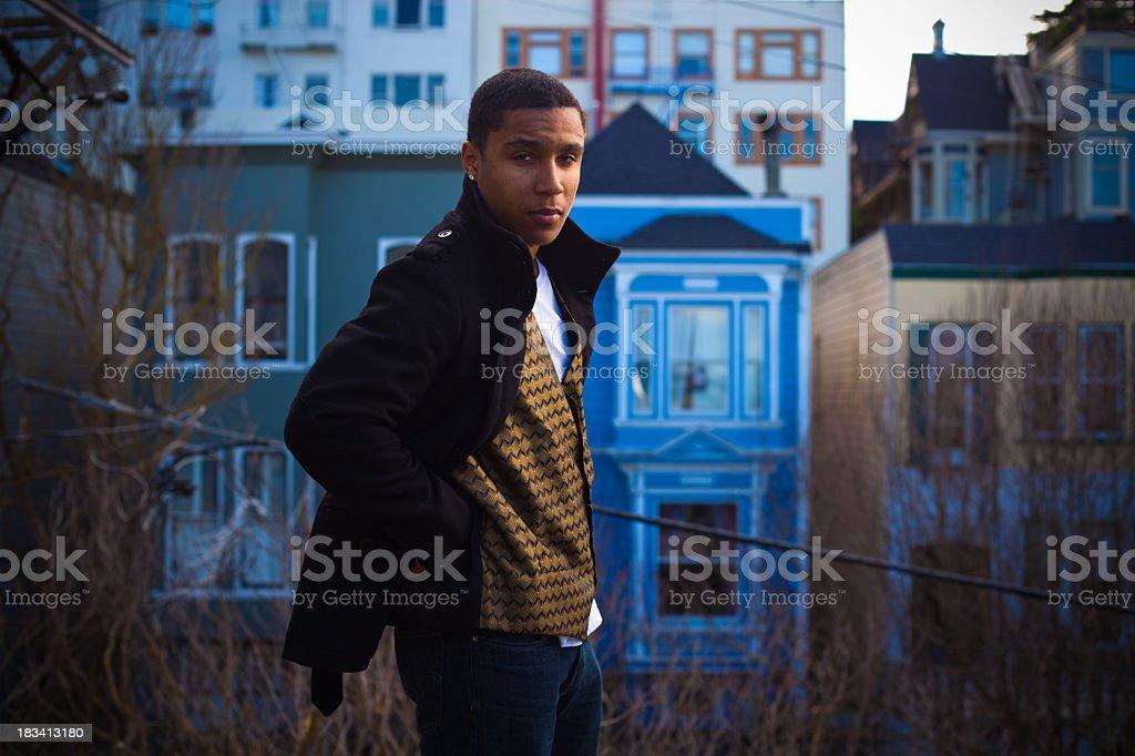 Handsome African-American Twentysomething stock photo