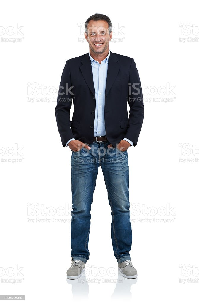 Handsome and effortlessly stylish stock photo