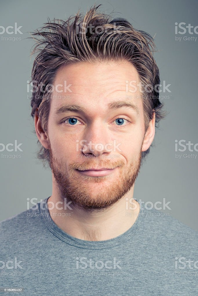 Handsome and happy stock photo