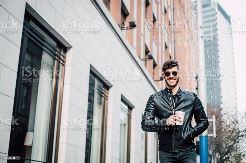 Handsome and urban stock photo