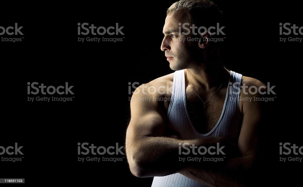 Handsome athlete royalty-free stock photo