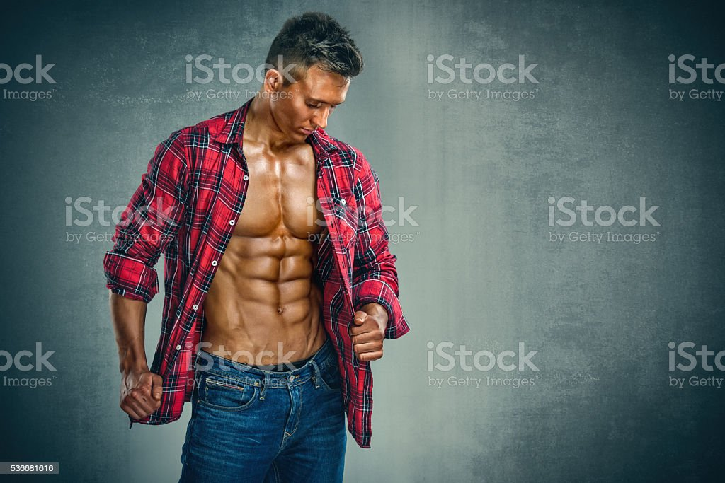 Handsome Athletic Male Model stock photo