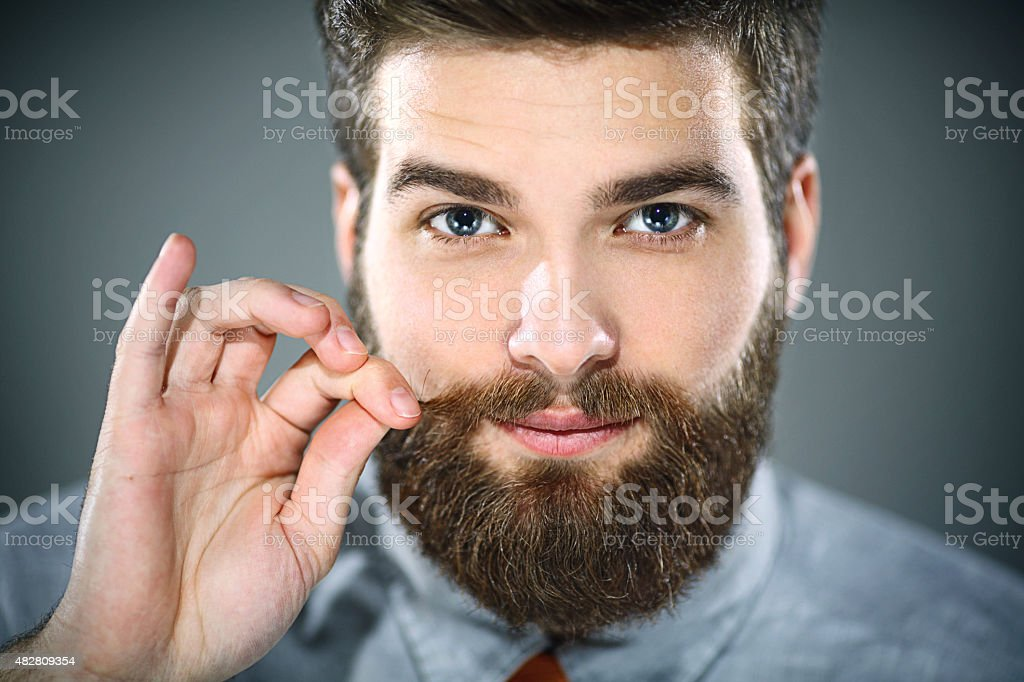 Handsome bearded man. stock photo