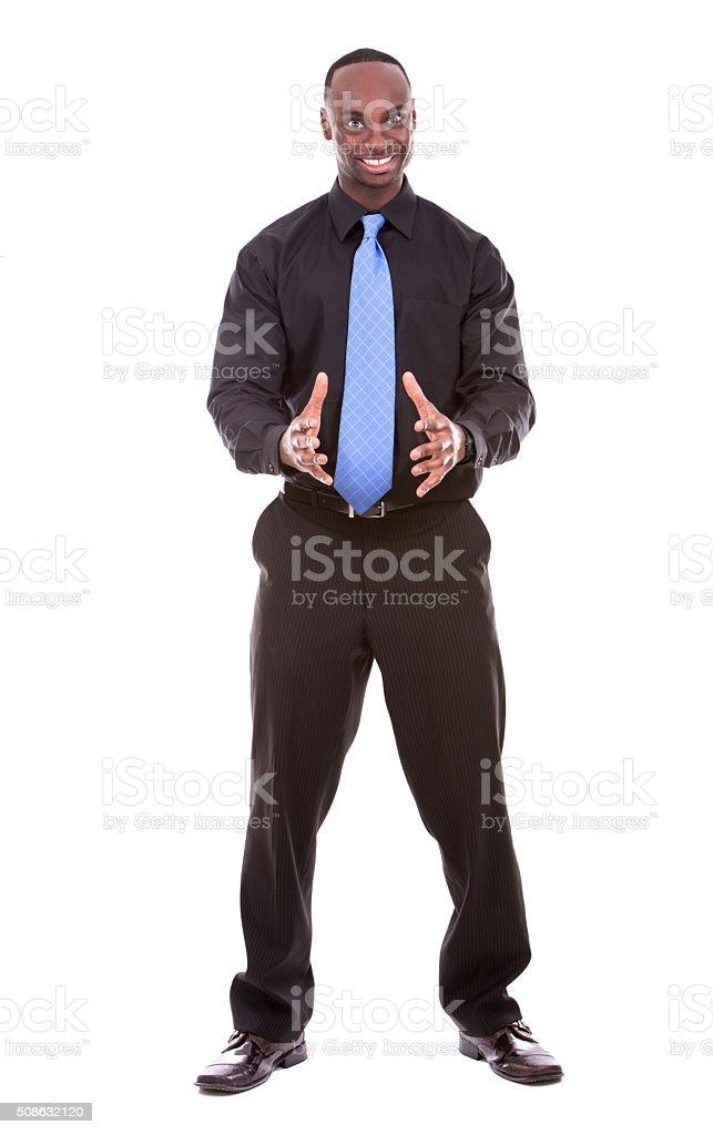 handsome black businessman stock photo