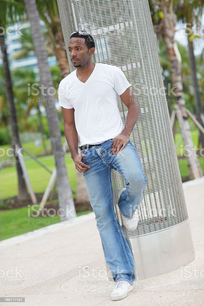Handsome black male model royalty-free stock photo