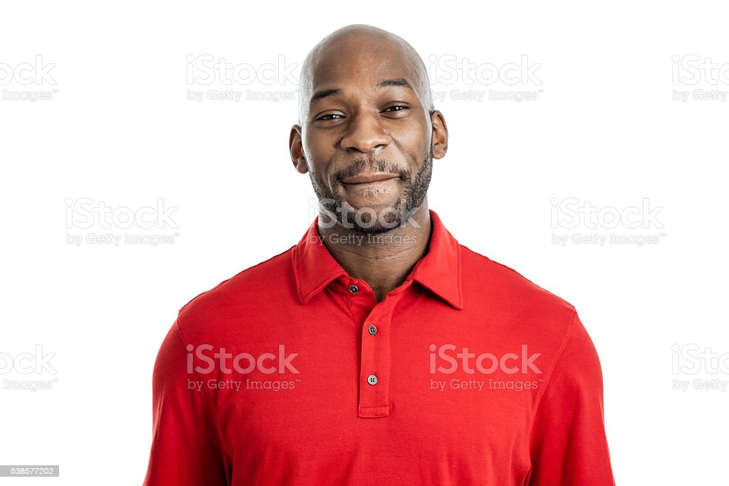 Handsome Black Man Smiling Portrait stock photo