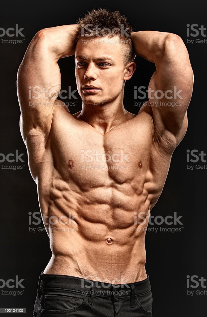 handsome body builder royalty-free stock photo