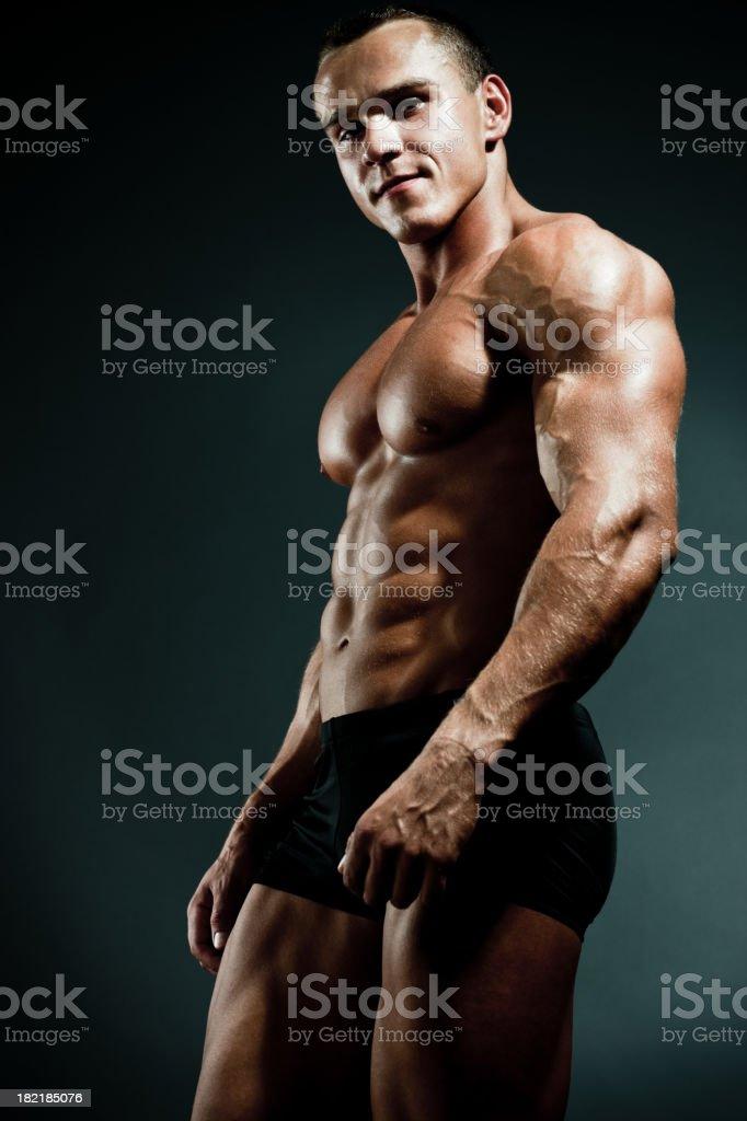 Handsome Body Builder Posing royalty-free stock photo