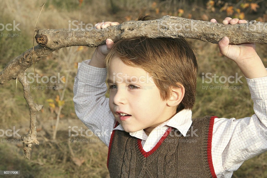 Handsome Boy Outdoors royalty-free stock photo
