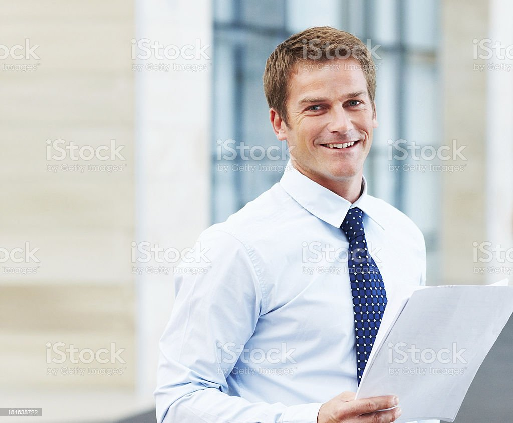 Handsome business man royalty-free stock photo