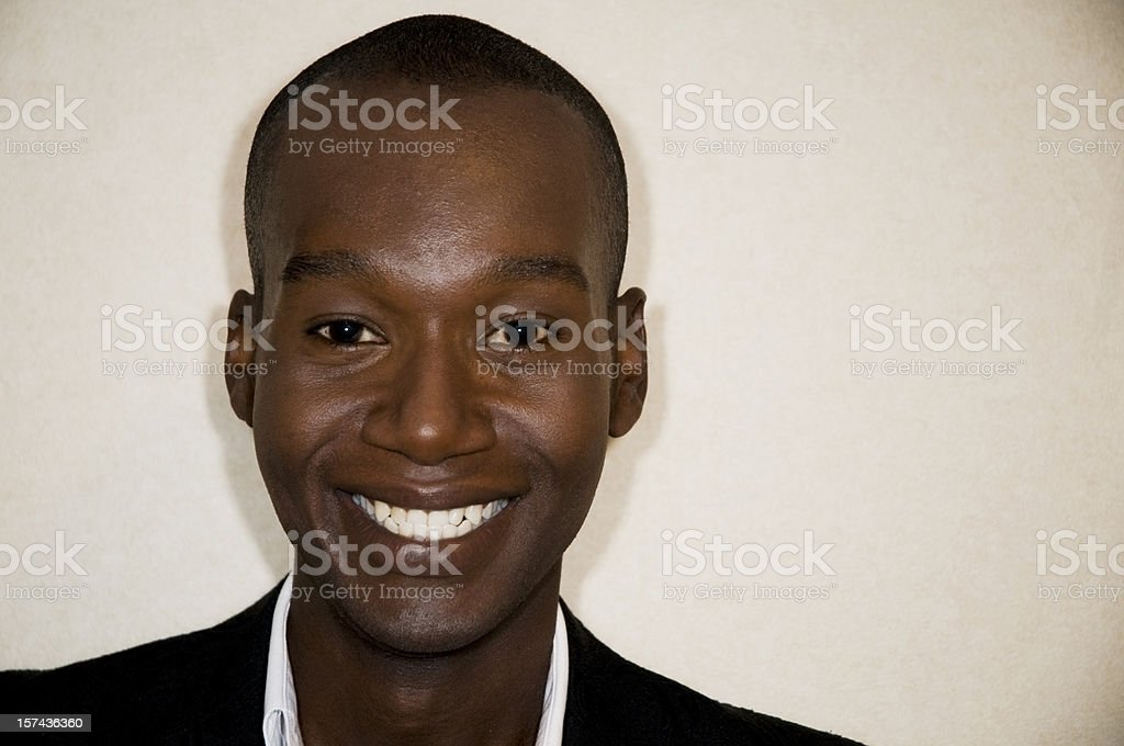 Handsome Businessman, African American stock photo