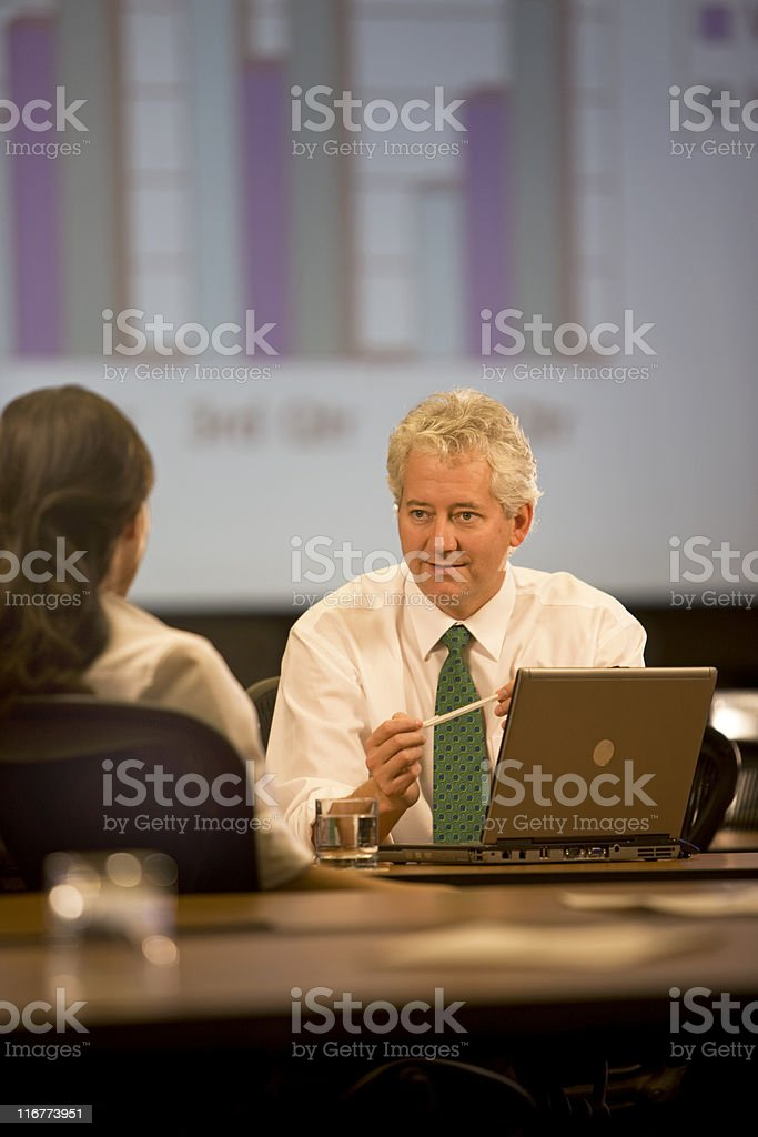 Handsome Businessman In A Meeting royalty-free stock photo