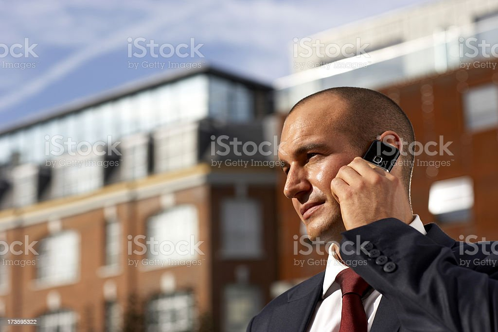 Handsome businessman on the phone. royalty-free stock photo