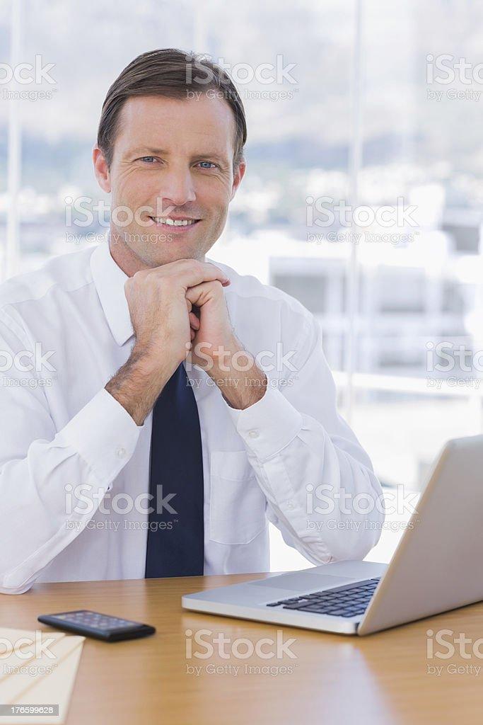 Handsome businessman posing royalty-free stock photo