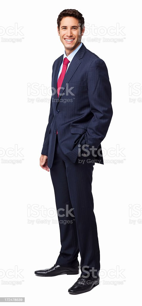 Handsome Businessman Smiling - Isolated royalty-free stock photo