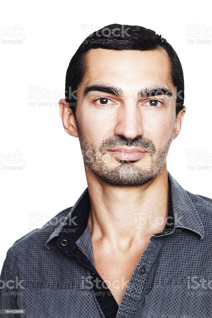 Handsome Caucasian man relaxed and pensive royalty-free stock photo