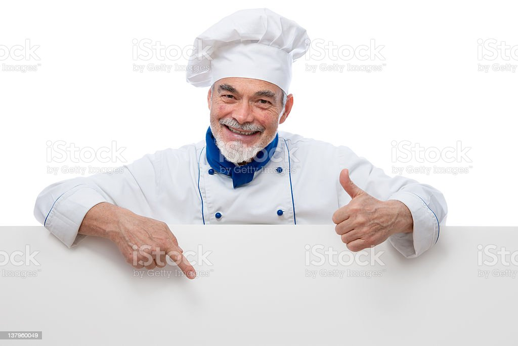 Handsome chef royalty-free stock photo