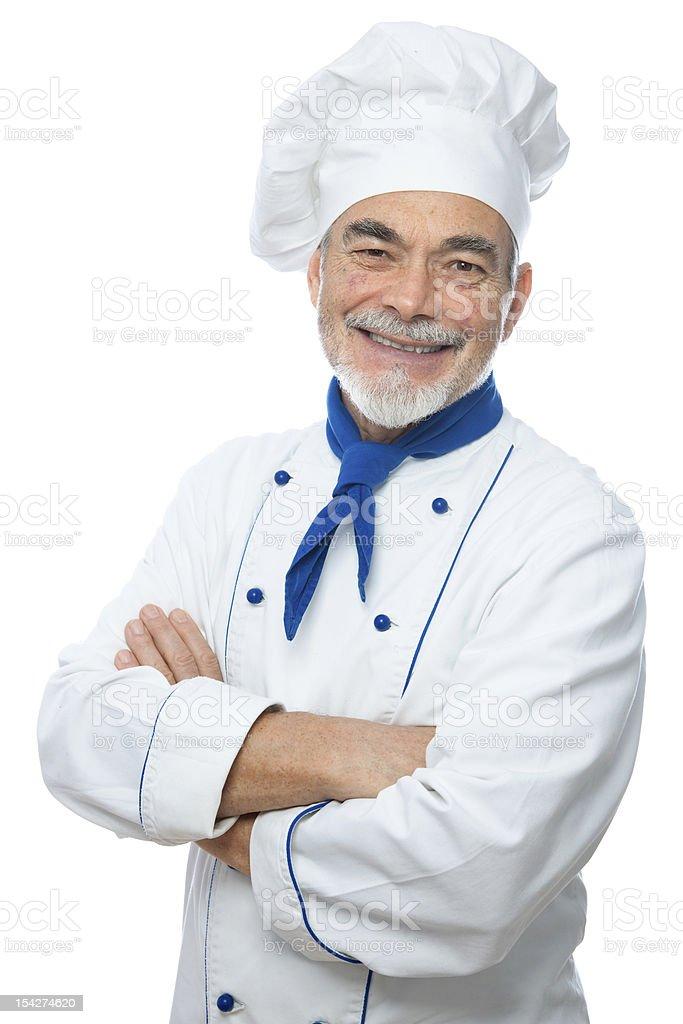 Handsome chef stock photo