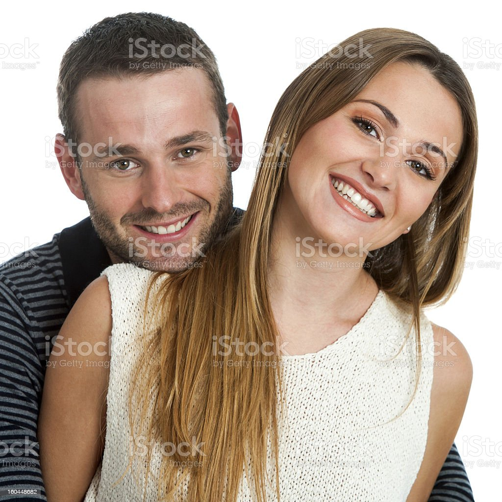 Beau couple souriant. photo libre de droits