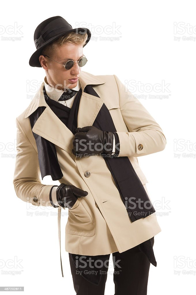 Handsome detective with a good sense for fashion royalty-free stock photo