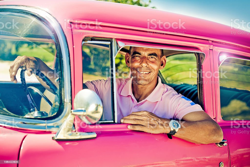 Handsome driver royalty-free stock photo