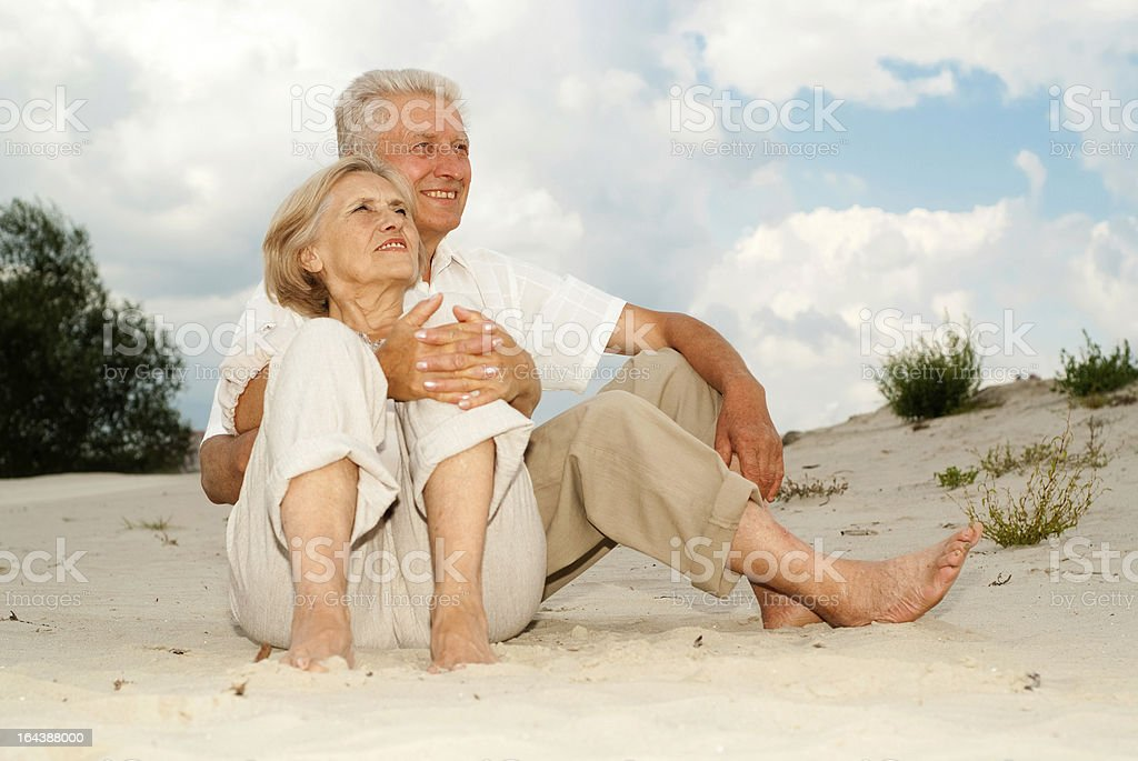 Handsome elderly couple royalty-free stock photo