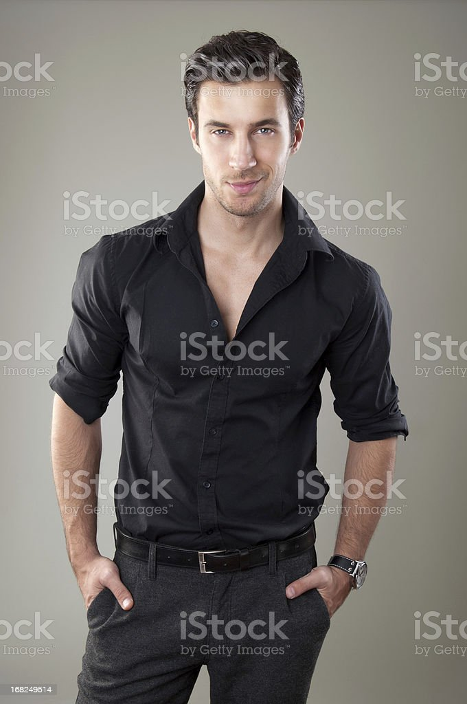 handsome elegant man royalty-free stock photo