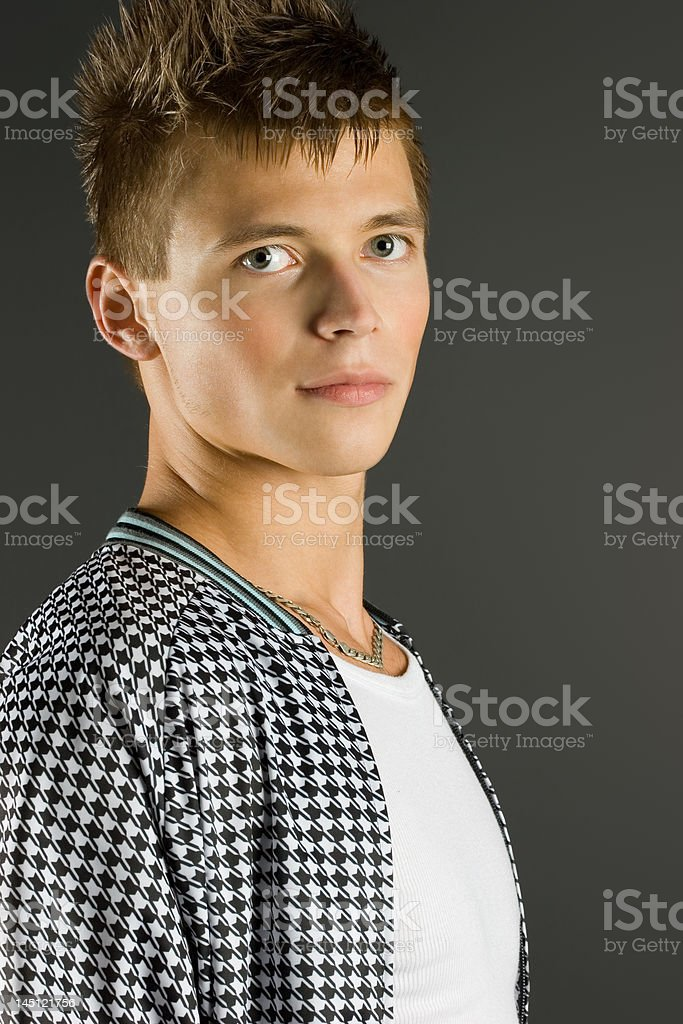 Handsome fashion boy royalty-free stock photo