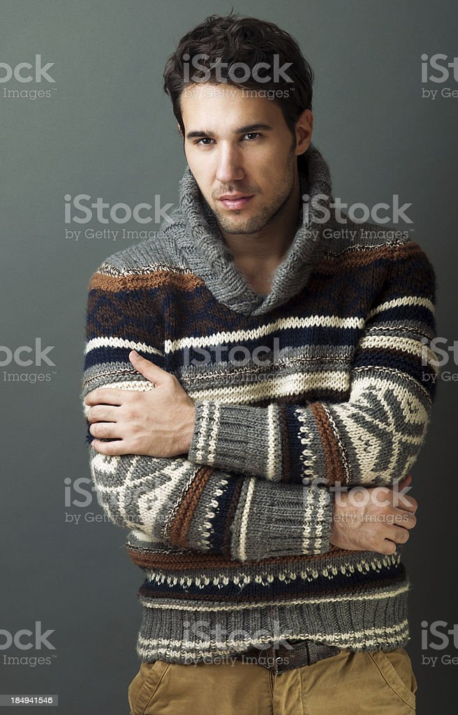 handsome fashionable male model royalty-free stock photo